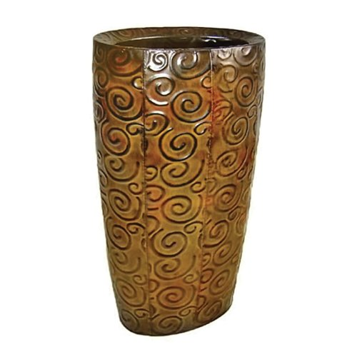 Pot ovale en métal hauteur 48,9 cm