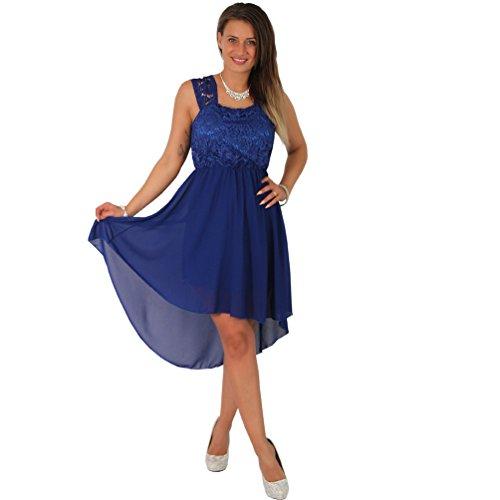 Fashion Cocktailkleid Tanzkleid Chiffon Minikleid Vokuhila Kleid Abendkleid Partykleid Spitze...