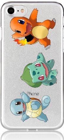 Blitz® POKEMON motifs housse de protection transparent TPE caricature bande iPhone Shiggy, Bisasam, Glumanda iPhone 7 Glumanda