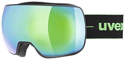 Uvex compact fm occhiali da sci, unisex, compact fm, black mat (green), one sizesex