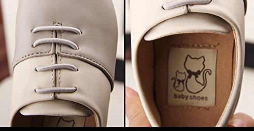 Gaorui Babys Kinder Jungen Mädchen Halbschuhe Schnürschuhe PU Leder Schuhe Rosa Schwarz Grau