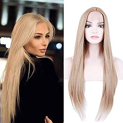 londe Gerade Lace Front Perücke Pre Plucked Synthetic Hair Perücke mit natürlichem Haaransatz für Frauen 26