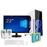 """Pc desktop quadcore Amd 3.80ghz,Ram 8gb ddr4,Hdd 1Tb,Scheda Video Radeon R7 900 MHz,Windows 10 Pro,Monitor 22"""" con accessori assemblato Computer fisso completo"""