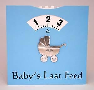Chiggs Wheels Baby's Last Feed Card - Blue