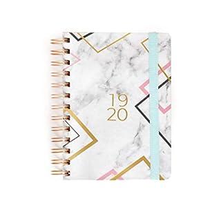 Takenote Agendas Class Academic Diary Week to View Spiral Bound Bilingual Calendar Spanish English 2019-2020 A6-12,5x17cm