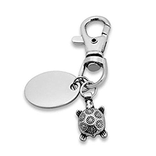 Custom Graviert/personalisiert Schlüsselanhänger mit Geschenk Beutel-Schildkröte-pl215