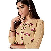 Khwahish - Straight Cotton Kurta with Bracelet Sleeves (3/4th sleeves)