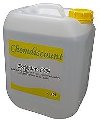 10 Liter (ca. 10,7 kg) Essigsäure 60%, versandkostenfrei