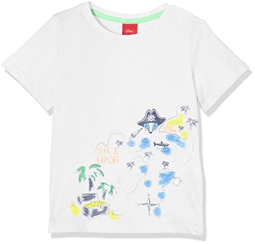 s.Oliver Baby-Jungen T-Shirt 65.804.32.5138, Weiß (White 0100), 62