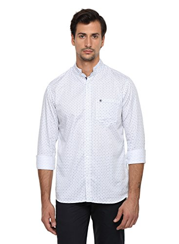 Classic Polo 100% Cotton Men's Printed Full Sleeve Slim Fit Casual Shirt