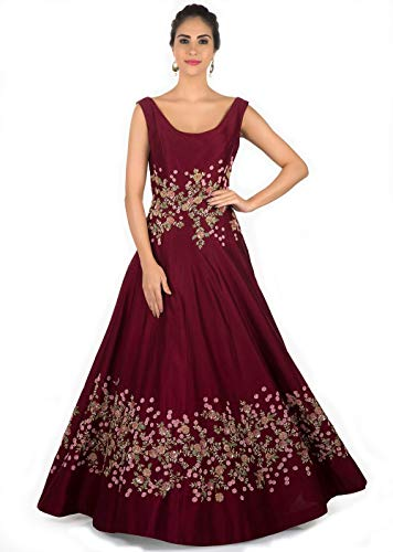 Globalia Creation Women's Taffeta silk dress | dresses for women kurtis |...
