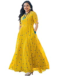 2fec01e45e851 Ultrasav Georgette Long Embroidered Kurti And Women s Choli (YL 1   FREE Size)