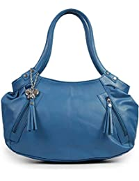 Butterflies Women's Handbag (Blue)(BNS 0226)