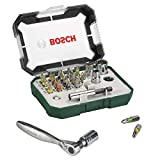 Bosch 2607017322 Rainbow Evo Set destornillador con trinquete pequeño, 26 piezas