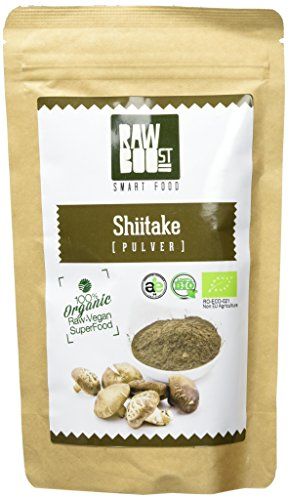 Rawboost Bio Shiitake Pulver, 1er Pack (1 x 125 g) (Pilz Pulver Bio)