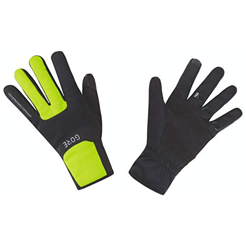 GORE WEAR M Windstopper Thermo Handschuhe, Black/Neon Yellow, 8
