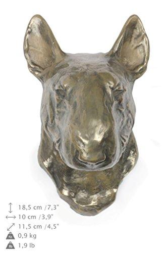 Bull Terrier, Hund, Bronze, Statue an der Wand, hängen, Limitierte Edition, Art Dog