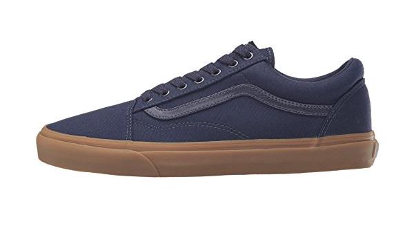 Vans U Old Skool Bleu marine Gum pour homme en daim Skate Baskets ...
