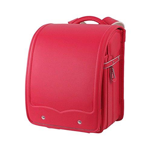 SK Studio Kinder Schule Tasche Japanische Schüler PU Leder Schule Rucksack Rot