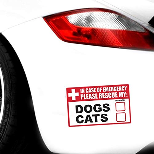 vw aufkleber auto Notfall Haustier Rettungshunde Katzen Aufkleber Kroatische Stoßstange Helm Windschutzscheibe Lkw Laptop 13X8,3 Cm Für Auto Laptop Fenster Aufkleber