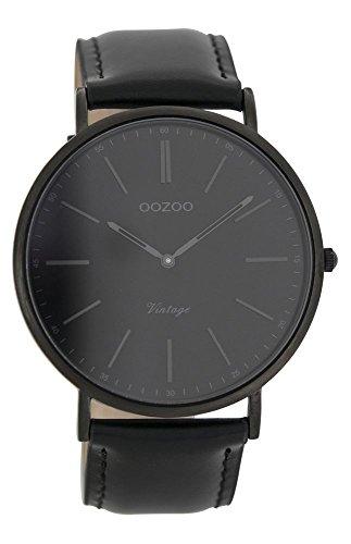 Oozoo Unisex-Uhr Datum Quarz mit Lederarmband - C7301