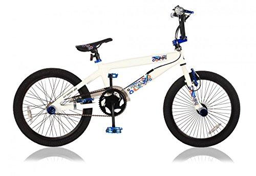 20 ZOLL Alu Aluminium BMX FAHRRAD RAD KINDERFAHRRAD 360° ROTOR Freestyle BIKE SQUAD WEISS