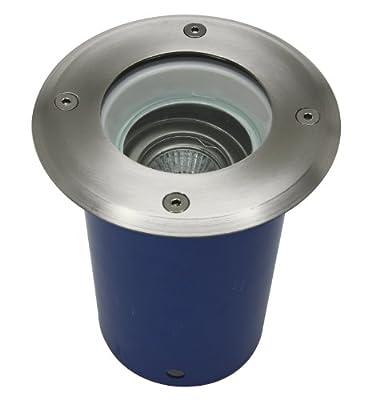 Vollmer Bodeneinbaustrahler schwenkbar rund Edelstahlring IP67 für GU10 max. 35 Watt von Vollmer - Lampenhans.de