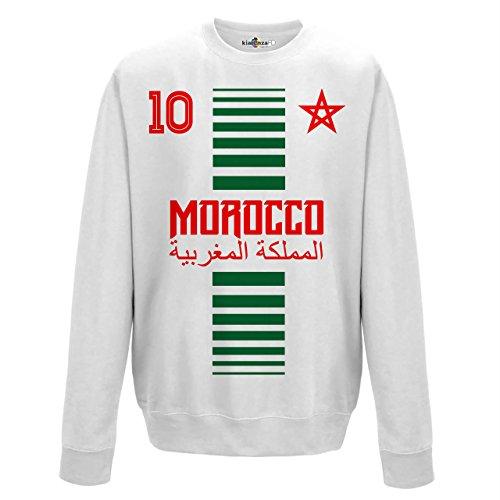 KiarenzaFD Crewneck Pullover Sweatshirt Manner National Sport Marocco Marokko 10 Fussball Sport Afrika Stella 2 XL