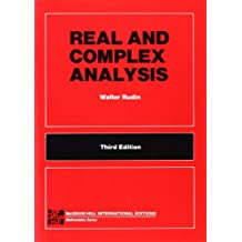 REAL & COMPLEX ANALYSIS 3E (5P) (Int'l Ed) (McGraw-Hill International Editions: Mathematics Series) by Walter Rudin (1987-03-01)