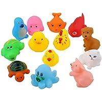 MIMOO Diseño Divertido 13 Piezas de los niños Que se bañan en el Agua Juguetes de Silicona de Silicona Agua exprimida de Goma de Animales Squirt Toys