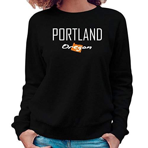 Idakoos Portland State Map Damen Sweatshirt M