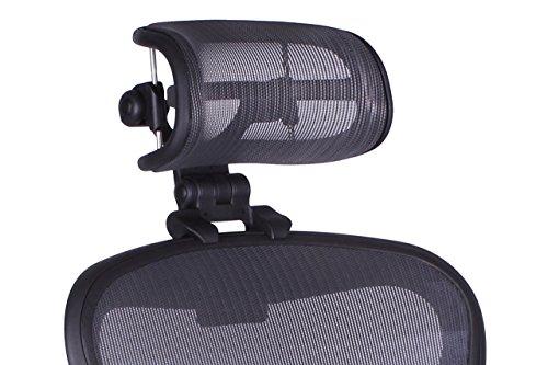 Engineered now poggiatesta per il classico di herman miller aeron sedia h3 per rimasterizzata grafite