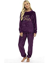 d77e475e50 Ladies Pyjamas Set Womens Loungewear Pyjamas for Women Comfy Warm Soft  Womans Lounge Wear Pjs Sets