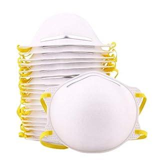 20 x Mundschutz FFP2 CE-Zertifizierung Geruchlos Filter in Premium-Qualität Atemschutzmaske geeignet für Trockenbau Schleifen, Schleifen, Sägen, Lackieren und Partikel Umwelt Einweg Cup-Maske