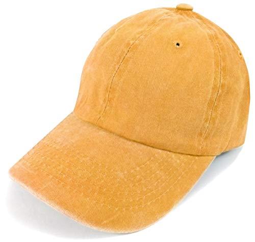 appe Kopfbedeckung Sonnenschutz Mütze Sommer Urlaub Herren Uni einfarbig gelb ()