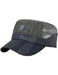 b9dbd1598ee7e Malla Transpirable Hombres Sombrero De Verano Ajustable Vendedor De  Periódicos Boina Ivy Cap Cabbie Gorra Plana