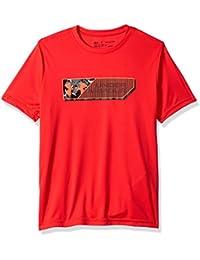 Under Armour Lenticular Duo - Camiseta de Manga Corta para niño, Niños, 1327280-890, Radio Red/Magma Orange, Youth Medium