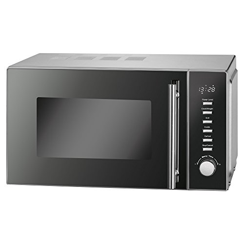 ProfiCook PC-MWG 1117 Mikrowelle 20 L / 1000 Watt Grill/Elektronische Steuerung/LED-Display/Edelstahlgehäuse