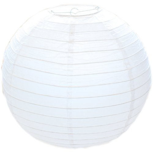 West5Products - Pantalla redonda para lámpara (papel, 30 cm), color blanco