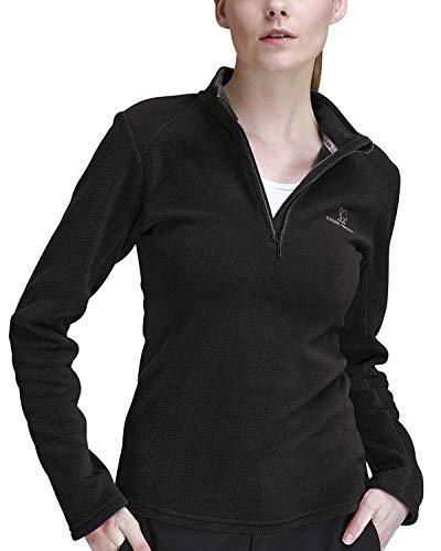 CAMEL CROWN Fleecejacken Damen Top Half Zip Fleece Sweatshirts für weibliche Fleece-Sweatshirt Extra Large Fleece-Sweatshirt