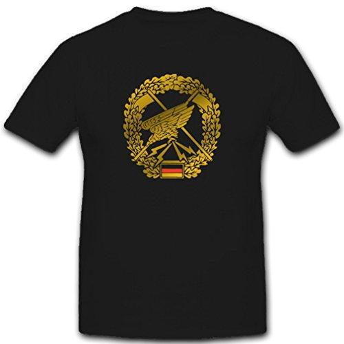 Copytec Barettabzeichen Fernspäher Bundeswehr Heer Spezialkräfte Heeresaufklärungstruppe Wappen Abzeichen Emblem T Shirt #2873, Farbe:Schwarz, Größe:Herren 5XL