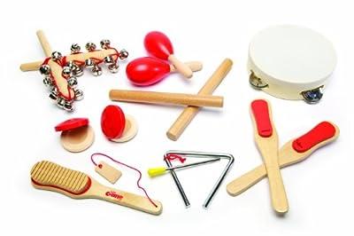 Tidlo T0058 - Juego de instrumentos musicales de madera (14 piezas) por John Crane