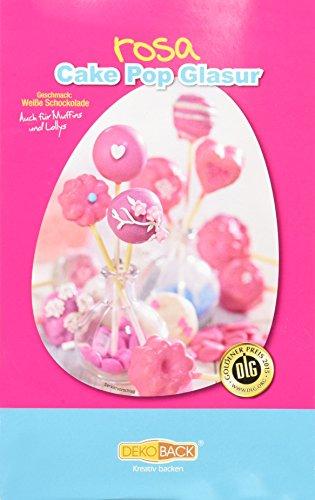 Dekoback Zuckerglasur Rosa 200 g ideal zum Benetzen von Cakepops, 2er Pack (2 x 200 g)
