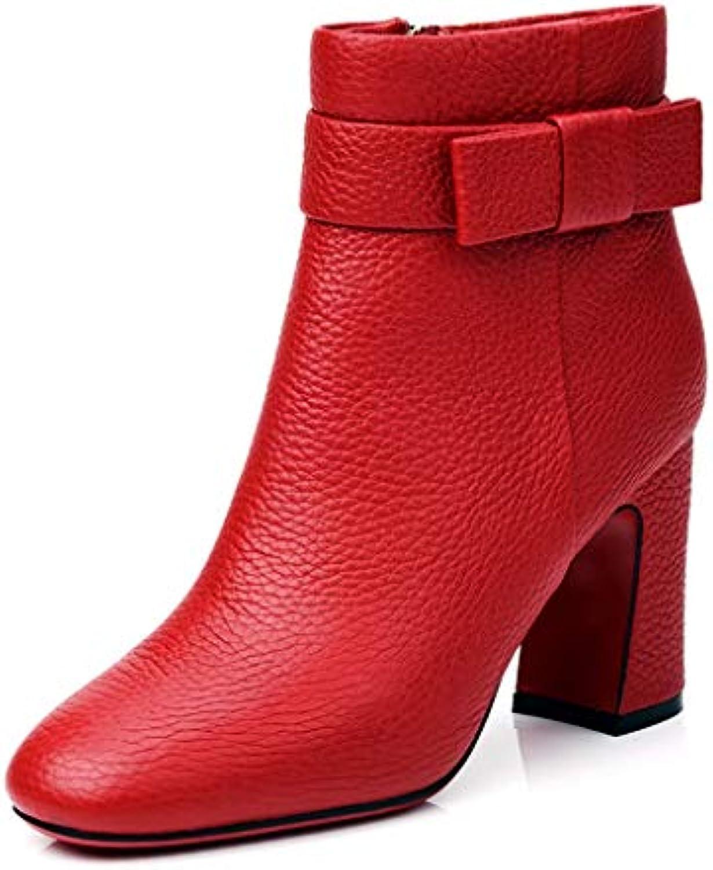 2018 Autunno e Inverno Nuove scarpe da donna Stivali tacco alto in pelle da donna con stivali Stivaletti Martin... | Forte valore  | Maschio/Ragazze Scarpa