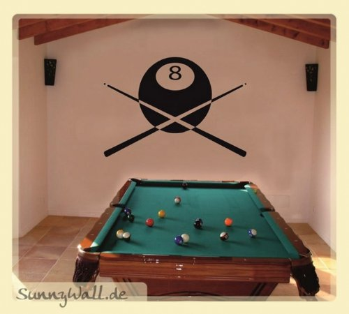 Sunnywall Wandtattoo Billiard Hobby Sport Kugel Team Größe: Größe 3