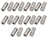 12mmx32mm Stainless Steel Advertise Glass Standoff Pin Fixing Mount Bolt 20pcs