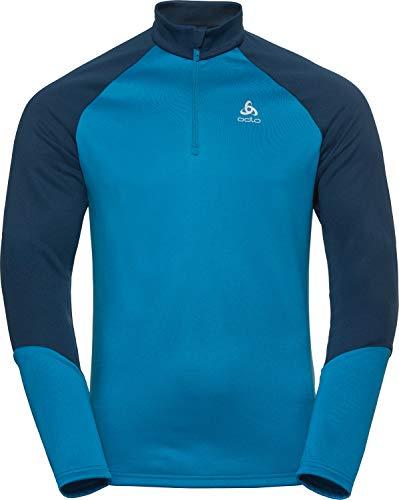 Odlo Herren Midlayer 1/2 Zip PLANCHES Pullover, Poseidon - Blue Jewel, S