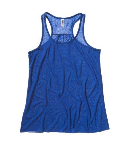 Flowy und Bella-Leinwand Damen Tank Top Racerback Blau - True Royal Blue