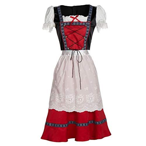 LeoieDamen Oktoberfest Fraulein Plus Size Kostüm Deutsches Dirndl Kostüm für Bayern Gr. Medium, Siehe - Deutsch Fraulein Kostüm
