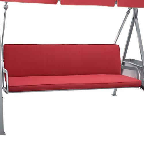 Beautissu Hollywoodschaukel Auflage Loft HS 180x50cm Auflagen für 3-Sitzer Hollywoodschaukel mit Rücken-Kissen Rot erhältlich